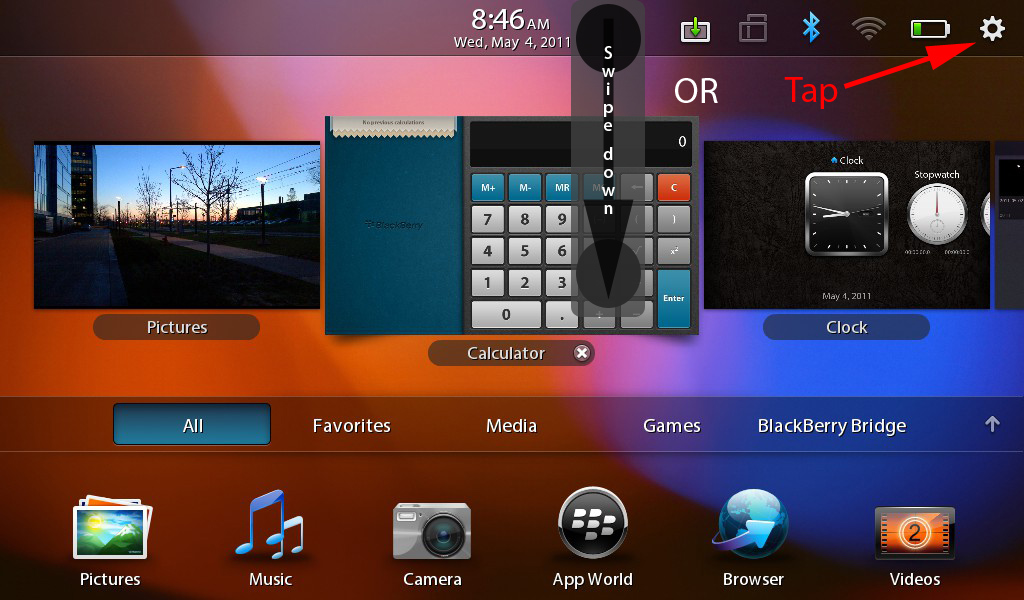 Blackberry Playbook: How to Delete All Data / Security Wipe