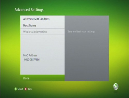 Advanced Settings Done