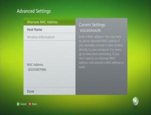 Alternate MAC Address