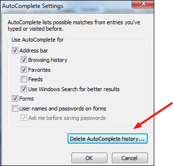 autocomplete dialog box