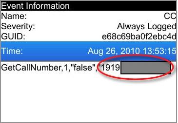 bb debug log showing hidden numbers