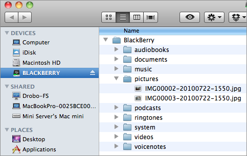 browsing BB pictures from OS X