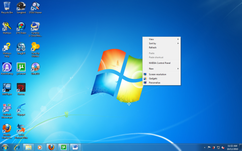 Windows 7 Quickly Hide All Icons From The Desktop
