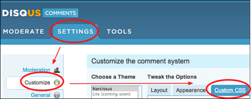 customizing disqus