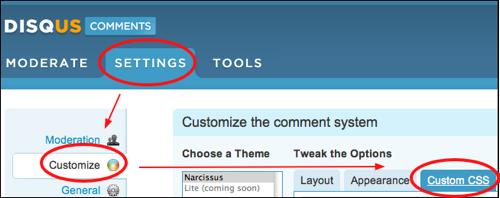 customizing disqus