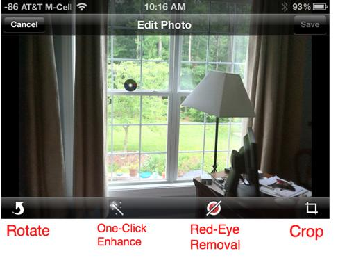 options for editing photos