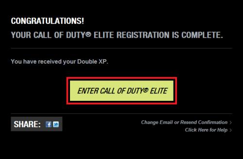 enter call of duty elite