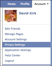 select privacy settings