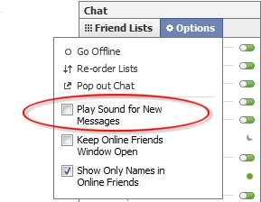 how to change the fb notification sound