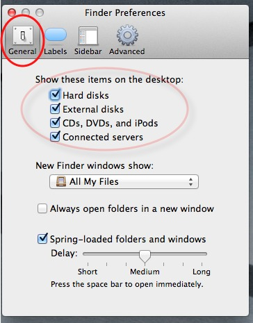 lion finder preferences dialog