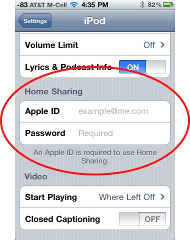 input apple id and password