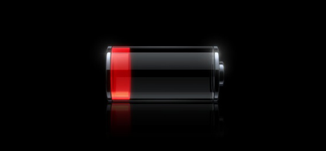 image of a low iphone battery