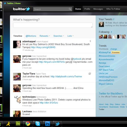 Twitter App Shortcut Window