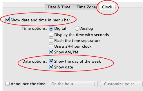 date on menu bar feature in OS X Lion