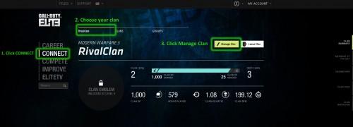 manage clan