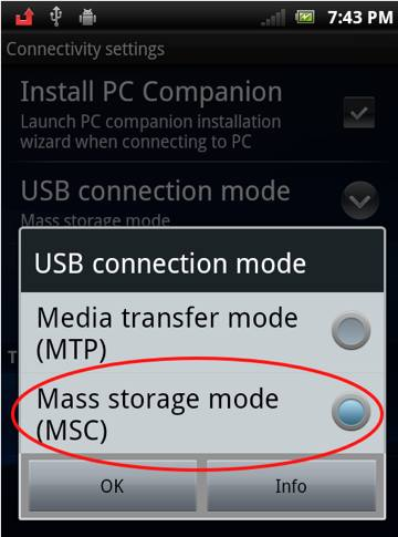 android 7 usb connect to pc