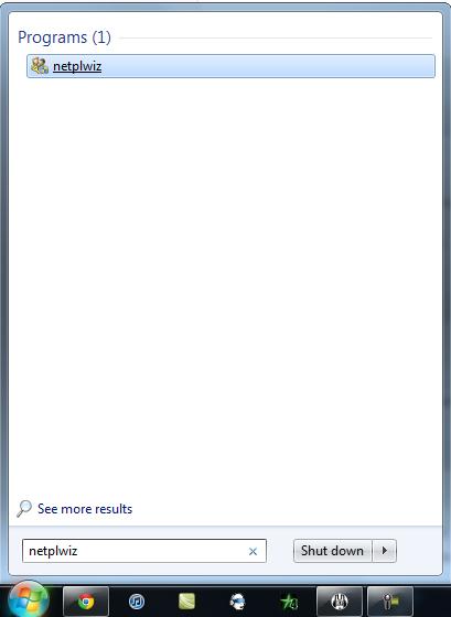netplwiz windows 7
