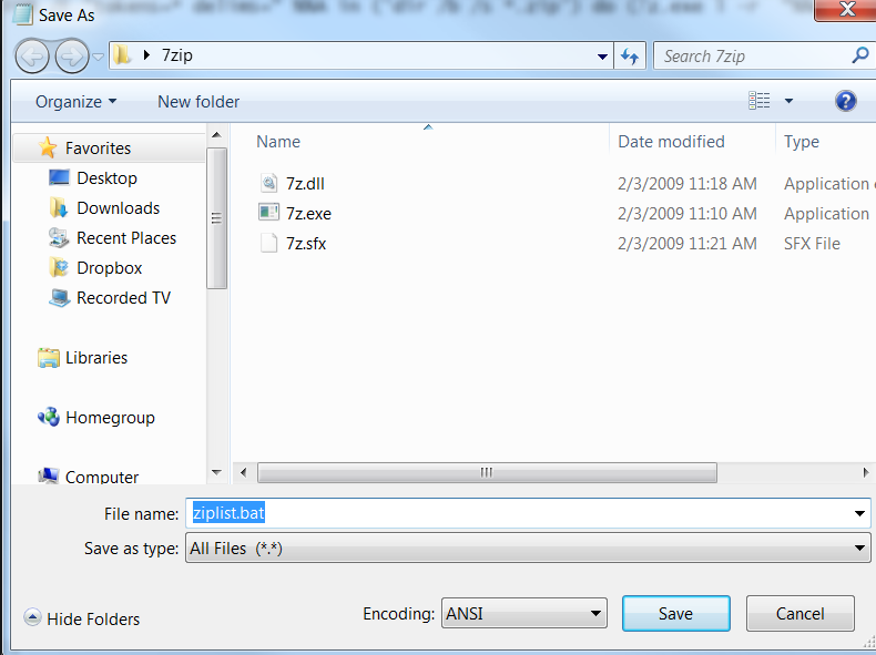 seven zip file manager