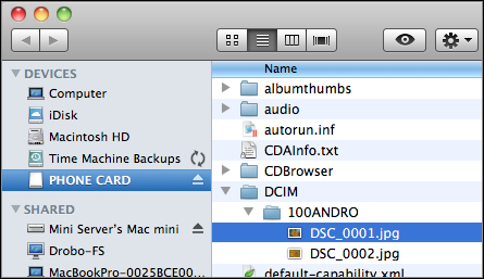 x10 Images Folder in OS X