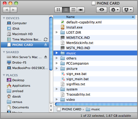 osx music folder