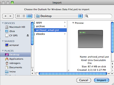 Microsoft outlook for mac data file location
