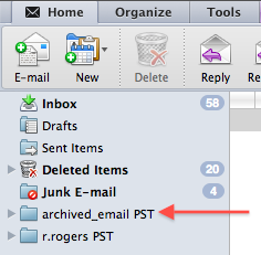 how to create pst in mac outlook 2011