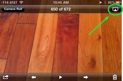 airplay from photo app