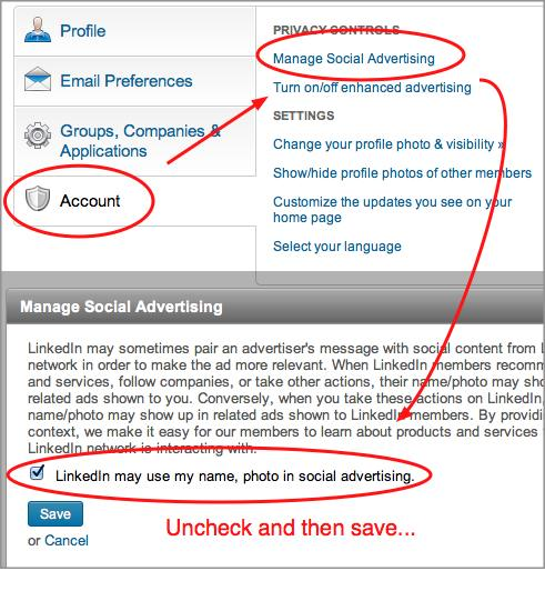 step for protecting privacy in LinkedIn