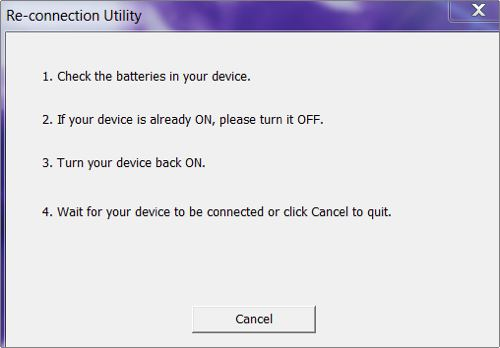 reconnection dialog box