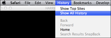 select show all history from the menu