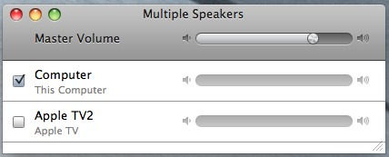 selecting multiple speakers in iTunes