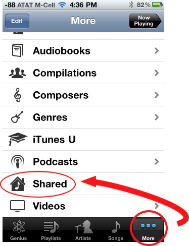 view shared libraries on iOS device