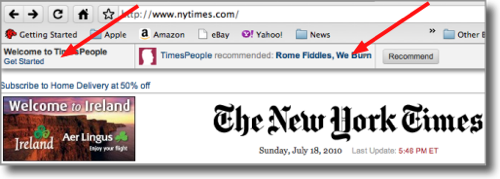 header at the NYT