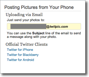 using twitpic to post images to twitter