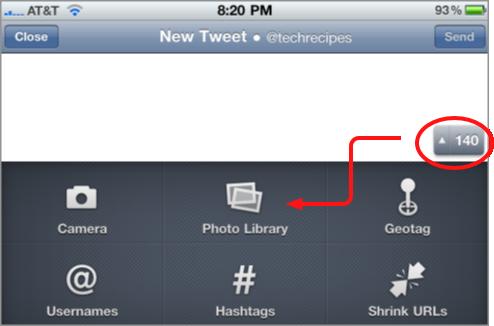 uploading pics through twitter client