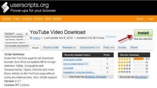 Chrome : How to Add a Download Button to YouTube