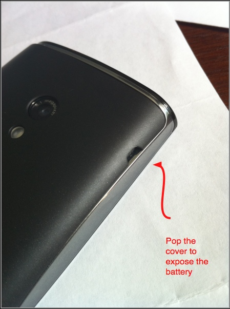 how to lift the x10 battery cover