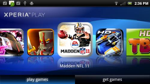 listing of xperia games